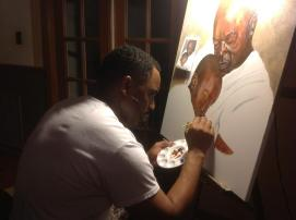 Father and son in progress